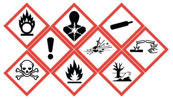 علائم خطر مواد شیمیایی