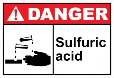 خطرات سولفوریک اسید